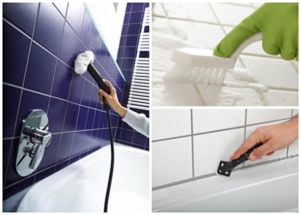 Как убрать со стен душевой желтизну и налёт от воды_3