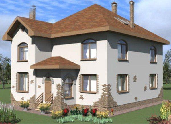 3D-проект дома из пеноблоков