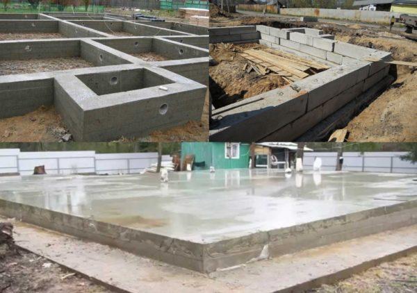 Актуальные типы фундаментов под строительство домов из ячеистых бетонов