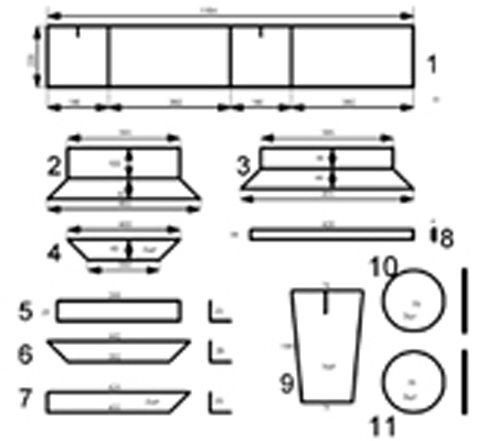 Чертежи оборудования для шлакоблока (Матрица в развёрнутом виде)