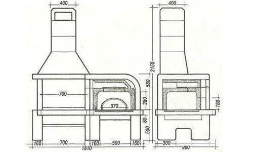 Чтобы проще было ориентироваться, необходимо использовать проект жаровни с точным размерным рядом