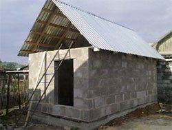 Делаем крышу на бане