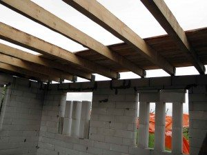 Деревянные перекрытия для пеноблочного дома