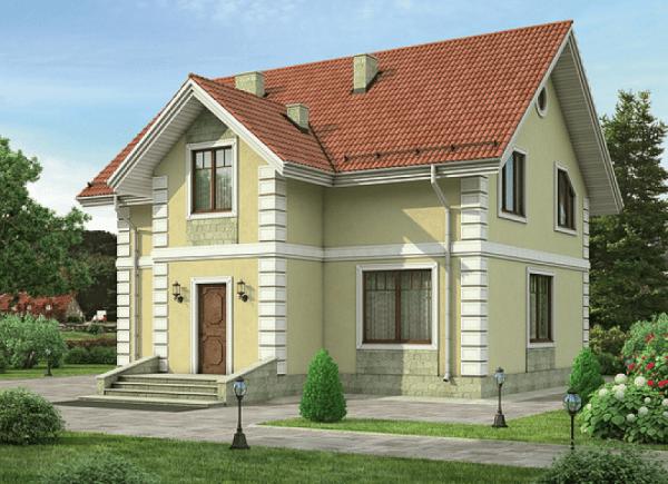 Двухэтажный дом из пеноблоков 6 на 8м