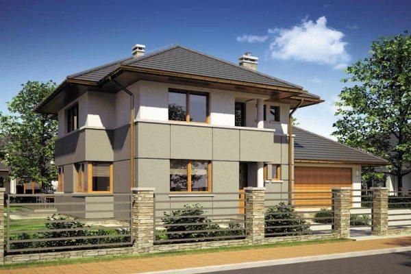 Двухэтажный полноценный дом и гараж