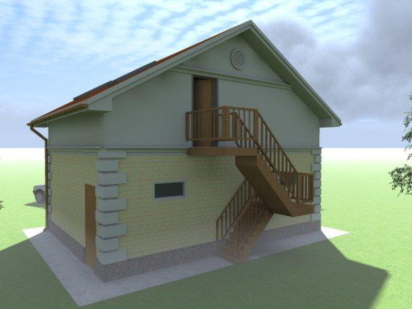 Еще вариант проекта дома с мансардой