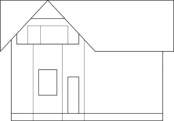 Эскиз фасада дома
