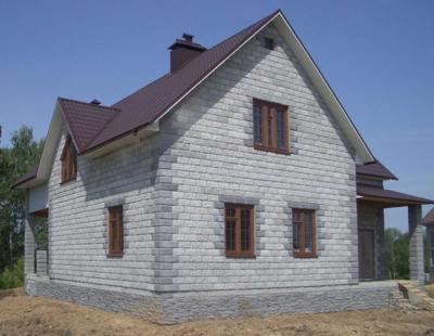 Фото дома из пеноблока