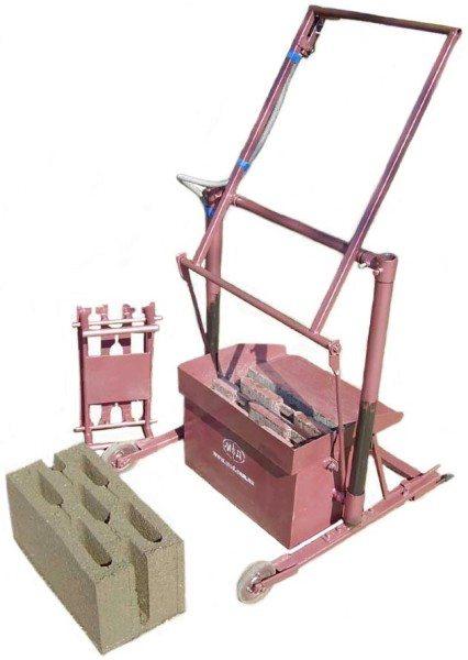 Фото фабричного станка для изготовления блоков