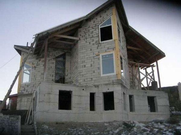 Фото пенобетонного сооружения