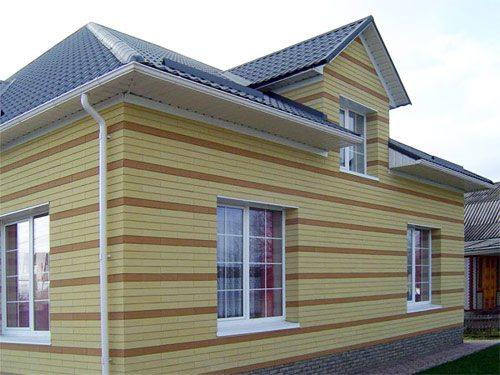 Фото утепленного дома из шлакоблока
