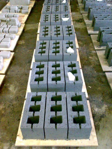 Готовые блоки сушатся