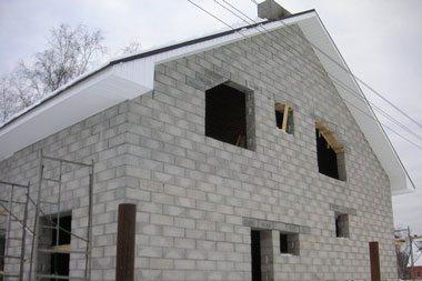 Готовый пеноблочный дом