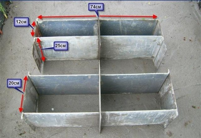 Качественно сделанная форма приемлемых размеров удержит бетонный раствор до полного затвердения.