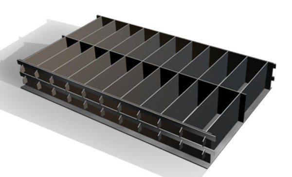 Кассетные формы для производства блоков из пенобетона.