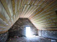 Крыша бани с мансардой