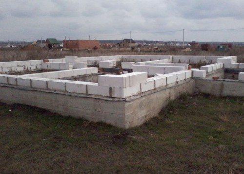 Ленточный фундамент идеально подходит для конструкций из пеноблоков