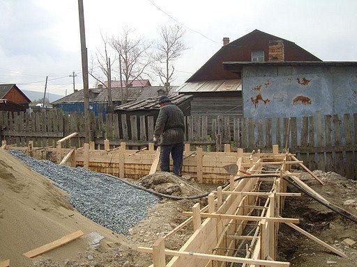 Ленточный фундамент под шлакоблочный дом