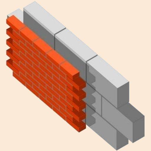 На этом рисунке виден зазор между двумя слоями стройматериалов