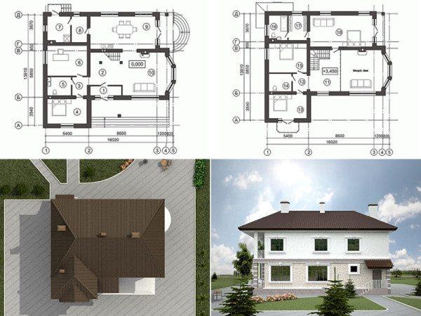 На фото – проект двухэтажного дома.