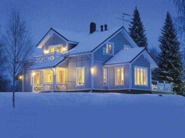 Облицованный шлакоблочный дом может выглядеть сказочно красиво