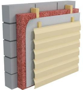 Облицовка стен из шлакоблока панелями сайдинга.