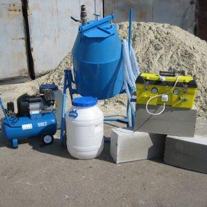 Общая площадь рабочего оборудования займет не больше 2 квадратных метров на вашем участке или в гараже