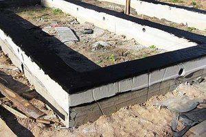 Основа дома из шлакобетонных блоков.