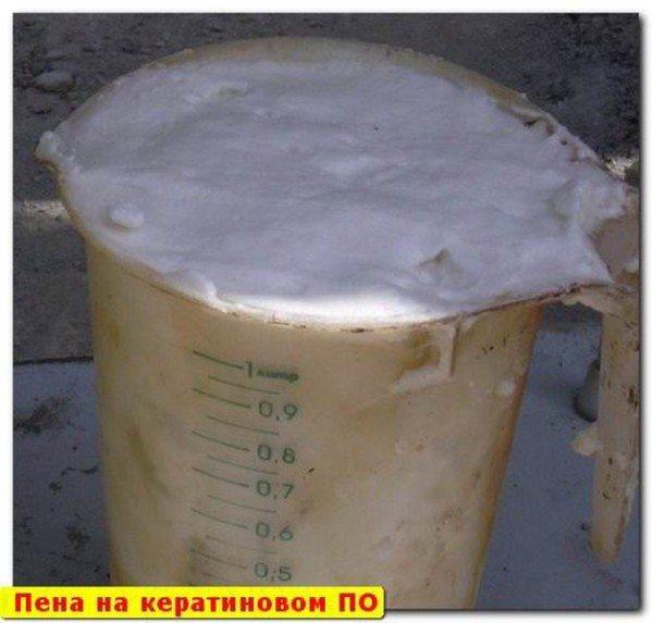Пена, предназначенная для добавления в бетон