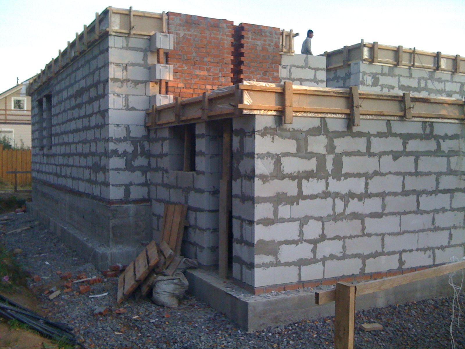 стена дома из газоблока