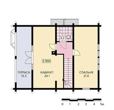 План одноэтажной постройки.