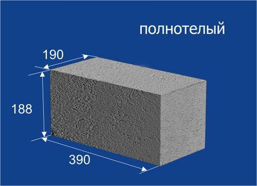 Полнотелый тяжелый блок