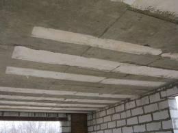 Потолок из ЖБ перекрытий