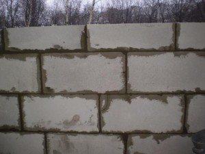 Пример кладки стены.