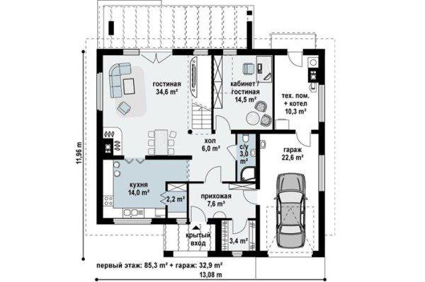Пример планировки пространства