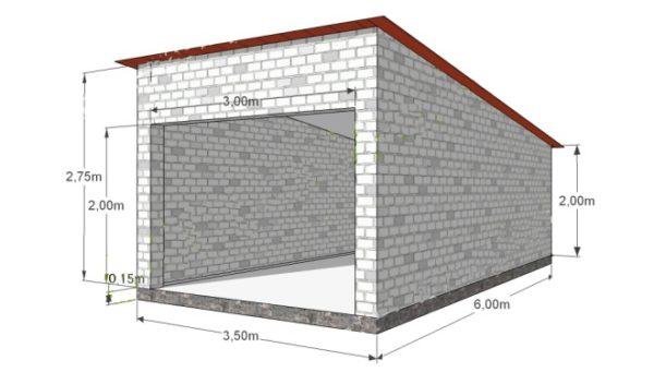 Проект компактного одноместного гаража