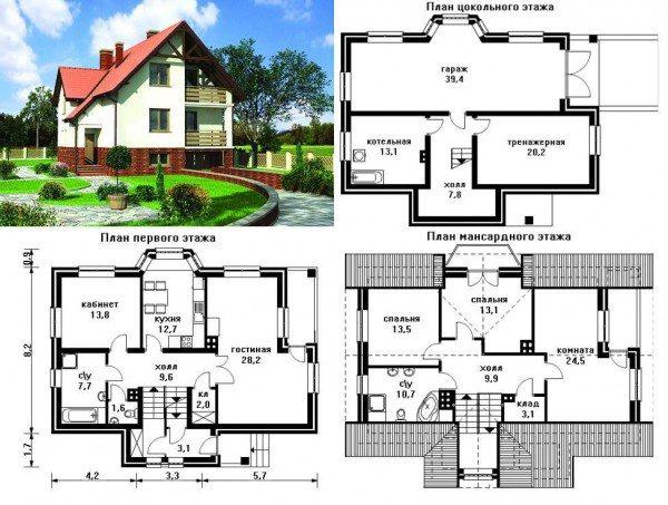 Проект жилого здания 10х12 из пеноблоков