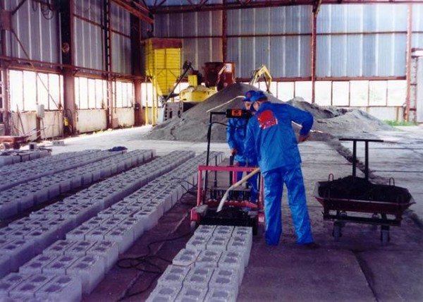 Производство материала в промышленных условиях.