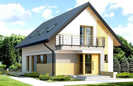 Простой прямоугольный вариант дома