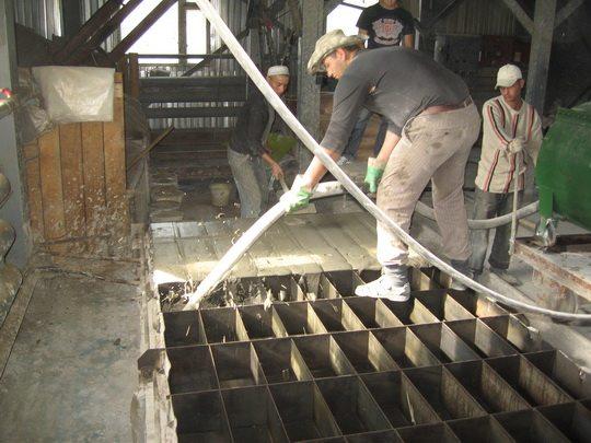 Процесс изготовления блоков