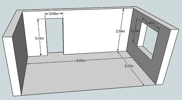 Расчет площади и объема возводимых стен здания