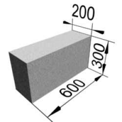 Размер одного из пенобетонного изделия
