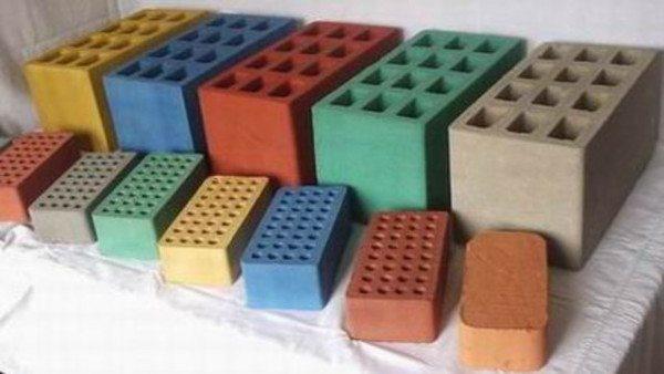Разнообразие форм и цвета шлакоблока