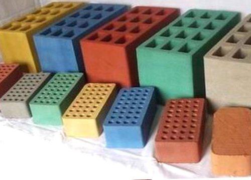 Шлакоблоки различных цветов и размеров