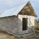Сооружение бани из шлакоблока