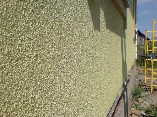 Стена, отделанная силикатной краской