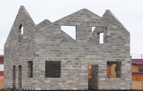 Строительство дома 10х10 из пеноблоков