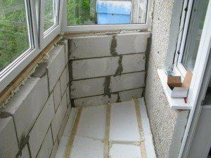 Теплоизоляция стен лоджии