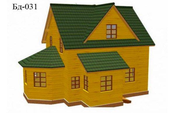 Типовой проект дома 9x9.