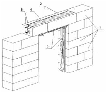 Установка U – образных блоков для пристройки из пеноблоков